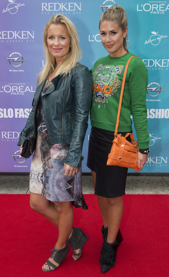 92e3ade8 Tone and her friend/ stylist Hedda Skoug at the opening of Oslo Fashion  Week.